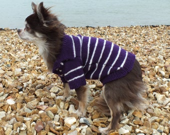 Hand made polo shirt dog coat in any colours with button fastening
