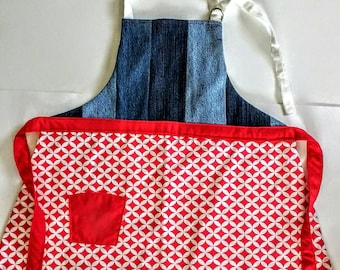Red, white and blue children's apron