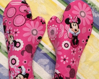 God's Little Angel Mittens.  To protect handycaped children's hands.