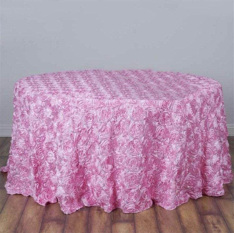 baby shower tablecloth huge sale pink satin ribbon rosette