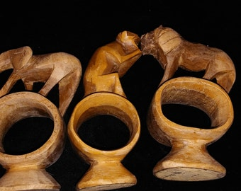 Vintage Wood Animal Napkin Holders