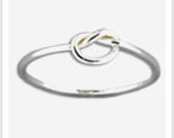 Simple Knot Sterling Silver Toe Ring - or wear as a Midi Ring