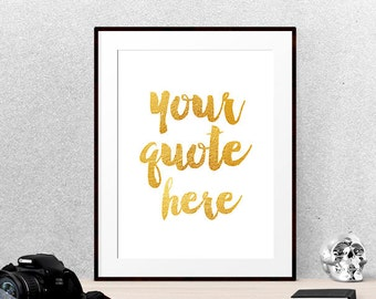 Custom printable quote, custom print quote, custom quote print, Calligraphy custom, custom quote poster, custom quote art | PRINTABLE