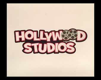 Hollywood studios Title premade paper piecing scrapbook