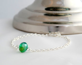 Sea Green Crystal bracelet - Green friendship bracelet - Crystal Friendship Bracelet