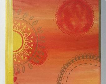 Golden mandala painting