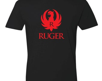 Sturm Ruger Logo Graphic Tee T-Shirt Black Red Select Color/Size
