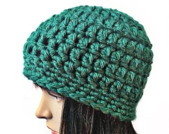 Green Beanie, Green Beanie Hat, Green Beanies, Green Crochet Hat, Green Winter Hat, Crochet Beanies, THE SENECA
