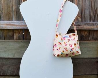 Vanilla 'Isabella' Ice Cream Girls Bag, small bag, handmade bag, girls purse
