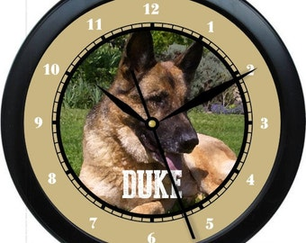 "German Shephard  10"" Personalized Wall Clock Gift"