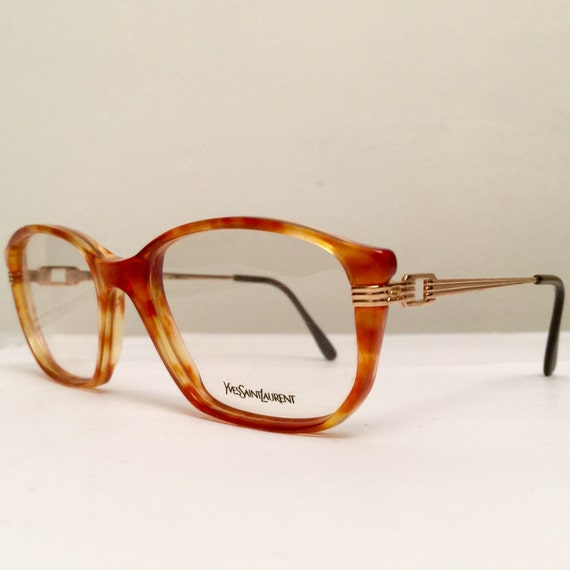 Ysl Glasses Frame : Vintage YSL 80s Eyeglasses Tithon Frames