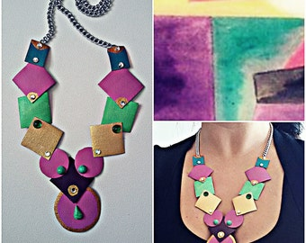 Custom Handcrafted necklace/Cubist necklace custom