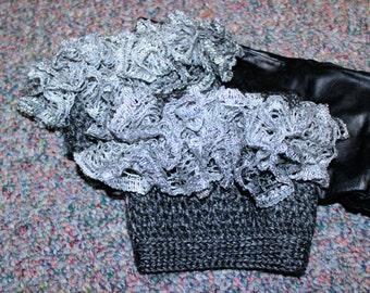 Pattern Only: Crochet Ruffled Boot Cuffs