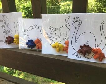 Dinosaur FAVOR Coloring Pages // Good Dinosaur Party // Dino Coloring Pages // Crayon Goodie Bag // Goodie Bag Filler