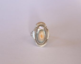 SALE* Unique Abalone Silver Ring