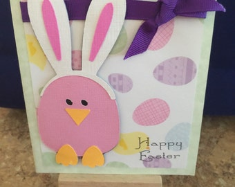 Egg bunny Easter Card