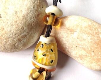 Beehive Lampwork Glass Beads SRA