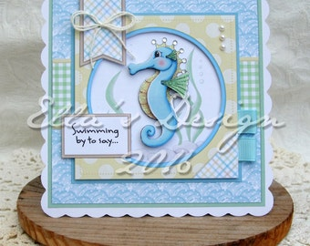 Seahorse predesigned card kit