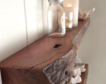 Floating Shelves Set of 2 Rustic live edge narrow Wall Mounted Bathroom Floating Shelf Perth Rose Gum
