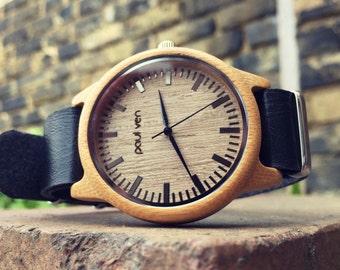 Paul Ven Liberty BLCK wood watch, FREE EU shipping, wooden watch, men watch, unisex watch, unique wood watch
