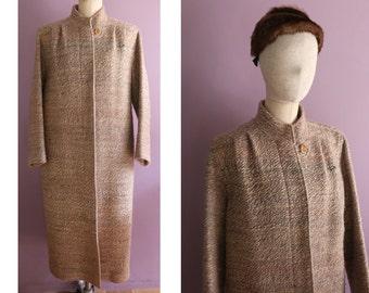 Twilight Color Silk Wool Tweed Coat