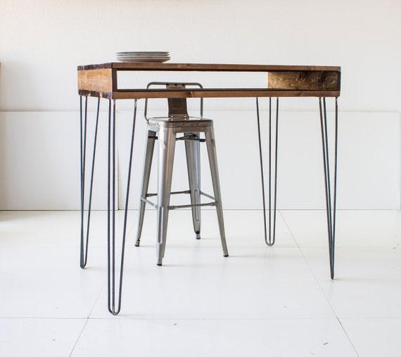 Table de bar de 60 x 120 cm la table pub dessus en bois - Comment fabriquer un mange debout ...