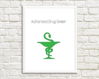 Pharmacist Print - Rx Art Print - Pharmacy Technician Gift - Pharmacy Student Print - Pharmacy Tech Gift - Pharmacist Gift - Pharmacy Gift
