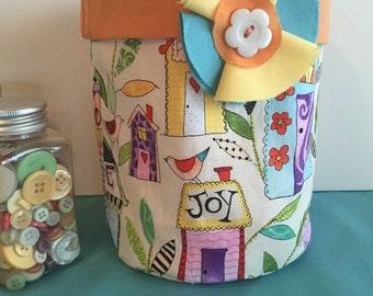 fabric basket, fabric bucket, organizational