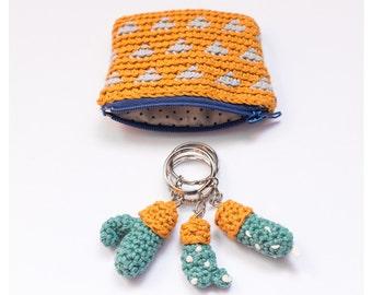Crest Cactus Key chain