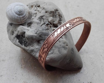 "Adjustable copper bracelet ""Gio"""