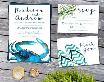 Wedding Invitation, Destination Wedding Invitation, Destination Wedding Invitation Suite, Beach Wedding Invitation, Beach Invitation, Beach