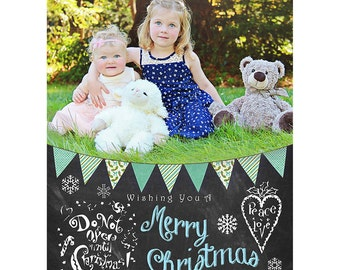 PERSONALIZED Christmas Card  - Instant Digital Download, Christmas Supplies, xmas card