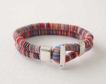 fabric cord bracelet, fabric bracelet, men bracelet