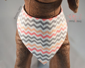 Pink Waves Dog Bandana