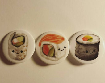 Sushi Combo - Button set of 3
