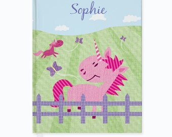 Personalized Pink Pastures Journal - Custom Journal for kids and adults. Back to School gift for Kids. Kids Journal with Child's Name