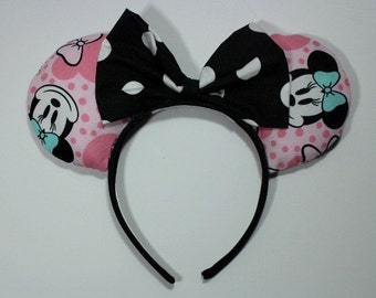Pink Minnie Mouse Ear Headband