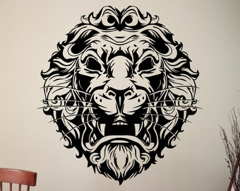 Lion Wall Decal Animal Stickers Home Interior Design Living Room Wall Art Murals Removable Stickers 6emdsp