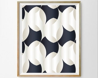 Navy Blue Wall Decor navy blue triangle print dark blue triangle wall art blue