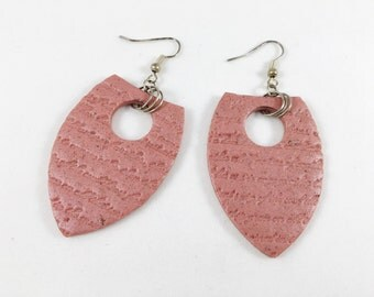 Textured polymer clay earrings