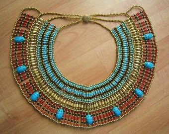 Large Size CLEOPATRA Scarab Belly Dance Oriental Necklace