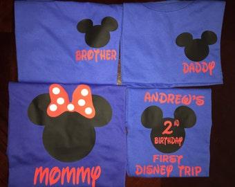 Family Disney Vacation Shirts