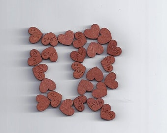 10 Pcs Love Heart Shape Wood Sewing Appointment Wedding Decoration (73)