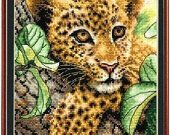Cross Stitch Kits Printed Little Leopard DMC threads