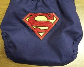 Superman Superhero Diaper Cover
