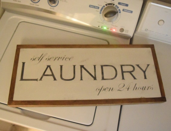 Self Service Laundry ~ Items similar to self service laundry sign on etsy