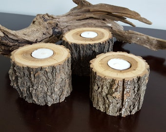 Naturally Rustic Tree Branch Tealight Holders