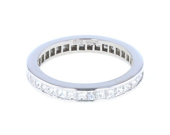 Princess Cut Diamond Eternity Ring in Platinum