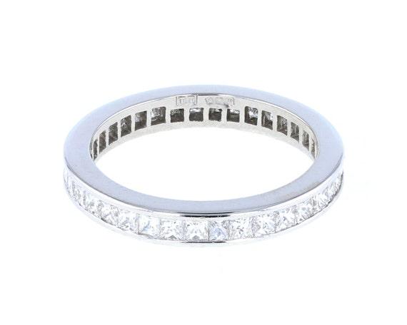 princess cut eternity ring in platinum