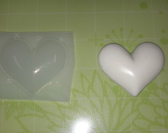 Bubble Heart Plastic Mold or Silicone Mold, Resin Mold, chocolate mold, polymer clay mold, bubble mold, heart mold, jewelry mold, love mold